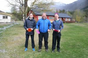 Pallen: F.v. Lars Tomas Håseth (3.plass), Richard Moen (1.plass) og Robert Hammer (2.plass).
